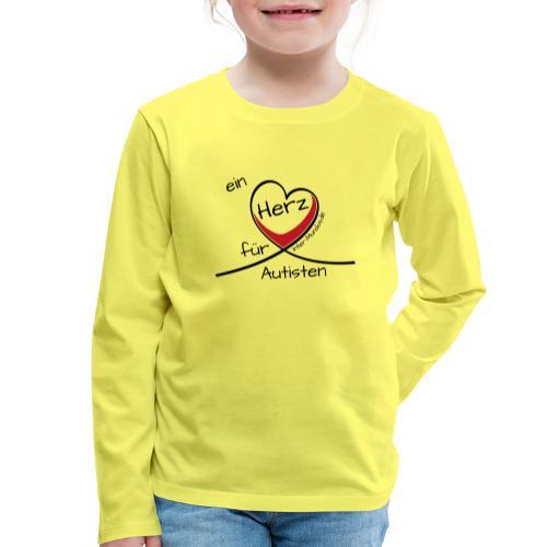 Ein Herz für Autisten - Kinder Premium Langarmshirt