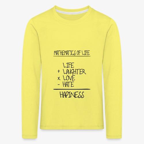 Mathematics of life - Kinder Premium Langarmshirt