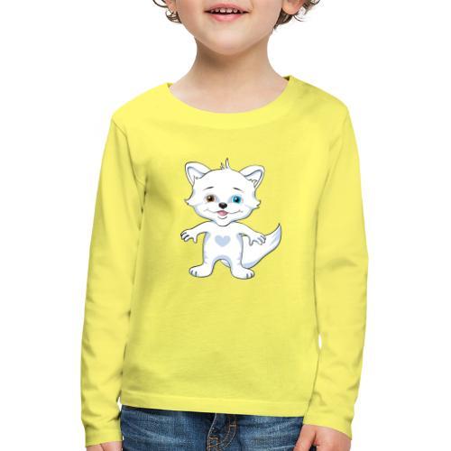 Rävlycka - Långärmad premium-T-shirt barn