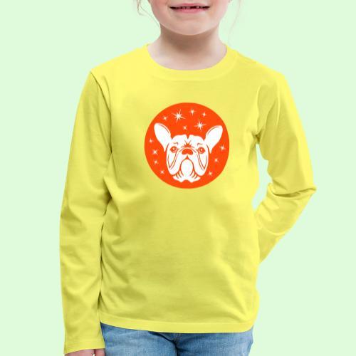 Face de Bouledogue Français dans les étoiles - T-shirt manches longues Premium Enfant