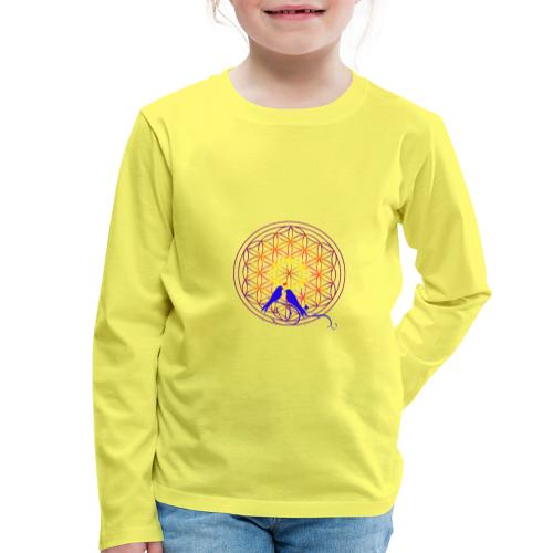 fleur de vie oiseau n°2 - T-shirt manches longues Premium Enfant