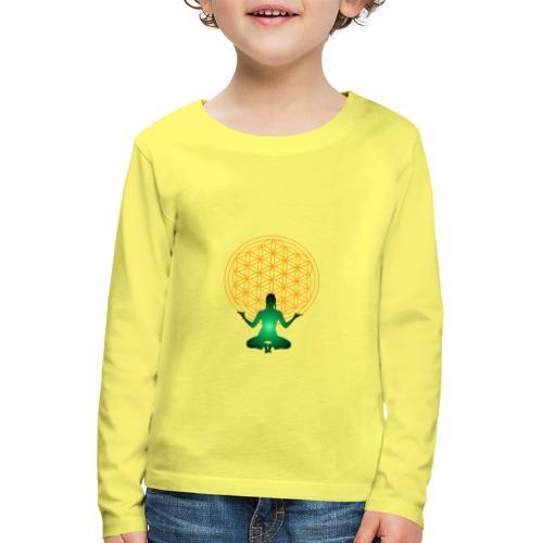 fleur de vie yoga n°4 - T-shirt manches longues Premium Enfant