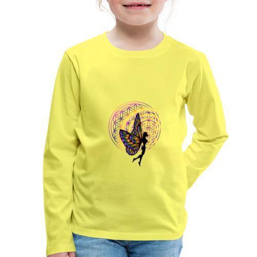 fleur de vie fée - T-shirt manches longues Premium Enfant