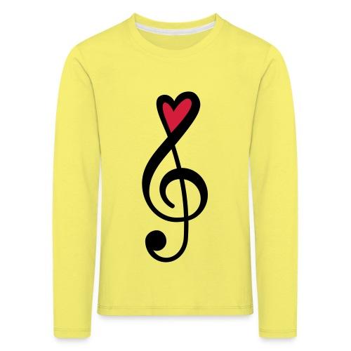 Notenschlüssel Herz rot Musik - Kinder Premium Langarmshirt