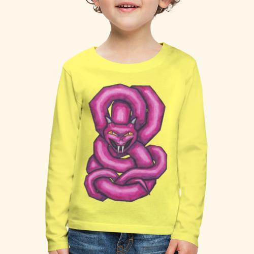 Kantig orm - Långärmad premium-T-shirt barn