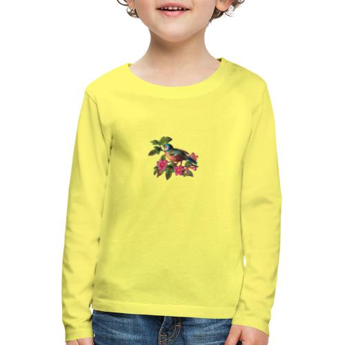 vintage vogeltjes patch - Kinderen Premium shirt met lange mouwen
