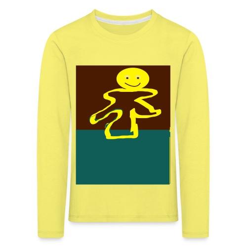 Glad mand - Børne premium T-shirt med lange ærmer
