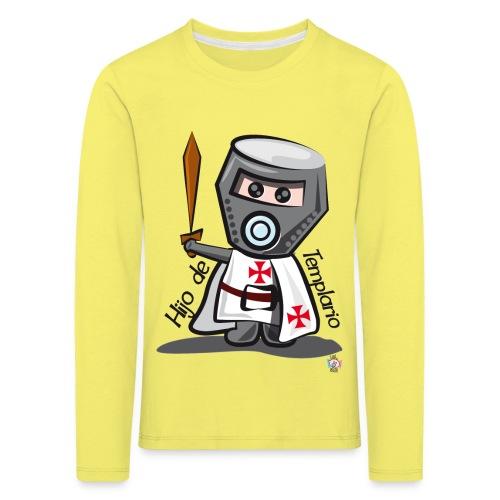 Hijo de templario (Casco) - Camiseta de manga larga premium niño