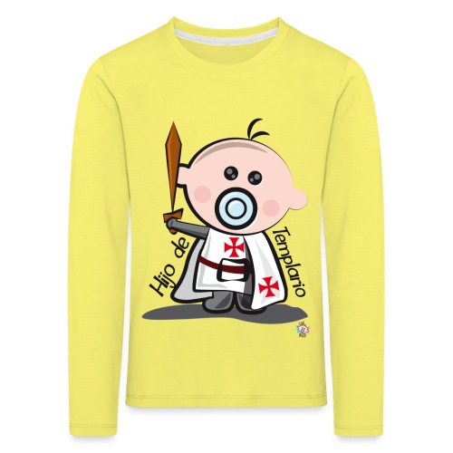 Hijo de templario - Camiseta de manga larga premium niño