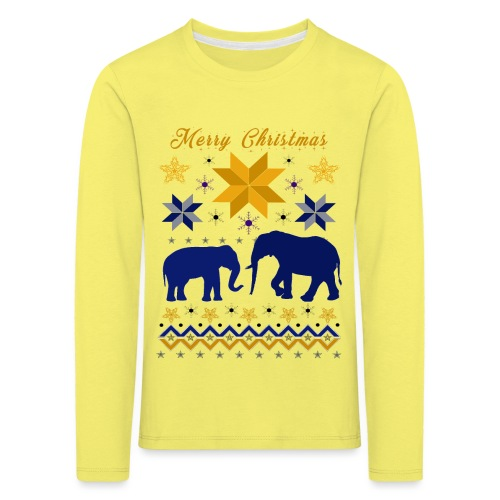 Merry Christmas I Elefanten - Kinder Premium Langarmshirt