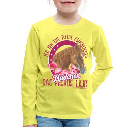 Glückliches Pferdemädchen - Kinder Premium Langarmshirt