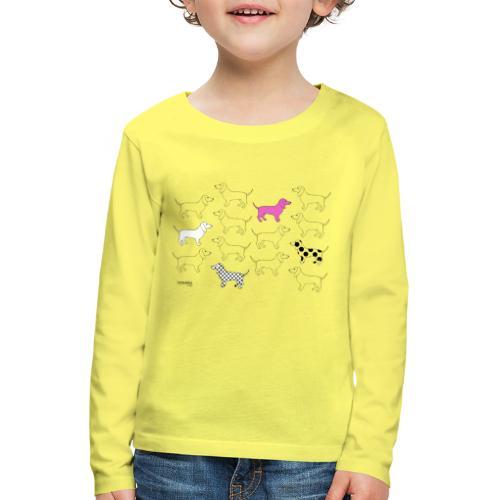 Puppies forever - Lasten premium pitkähihainen t-paita