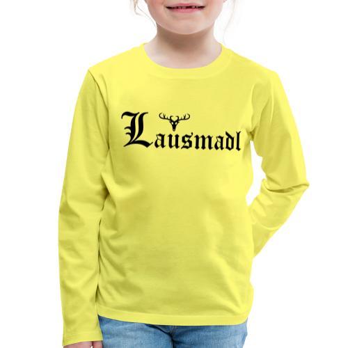 Lausmadl mit Hirsch - Kinder Premium Langarmshirt