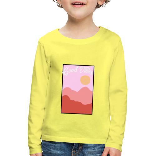 Good vibes - Kinderen Premium shirt met lange mouwen