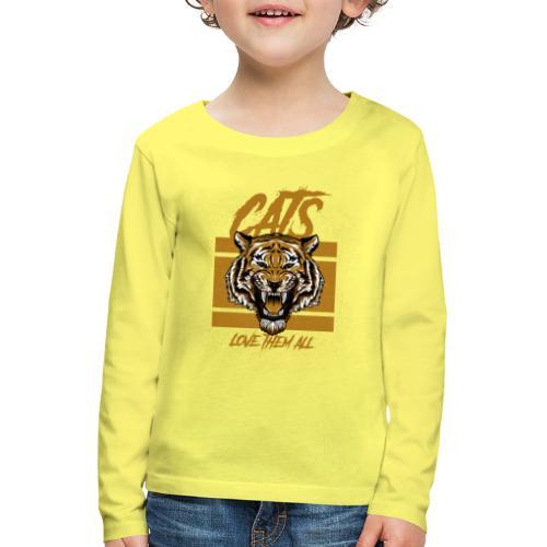 Cats, love them all - Kinderen Premium shirt met lange mouwen