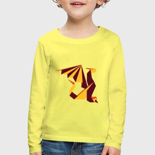 Dragon Origami - T-shirt manches longues Premium Enfant