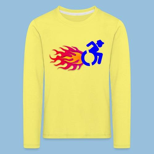 Wheelchair with flames 012 - Kinderen Premium shirt met lange mouwen
