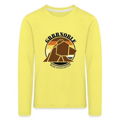 Logo 1 GRRRNOBLE BEAR ASSOCIATION - T-shirt manches longues Premium Enfant