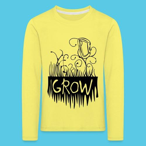 Grow Karabiner - Kinder Premium Langarmshirt