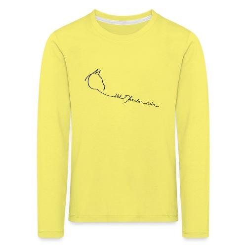 MPS Logoschriftzug kl. Dreamhorse - Kinder Premium Langarmshirt