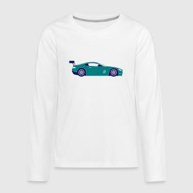 Samochód sportowy - Koszulka Premium z długim rękawem dla nastolatków