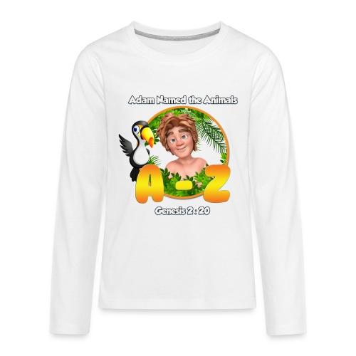 Adam Named the Animals Logo - Teenagers' Premium Longsleeve Shirt
