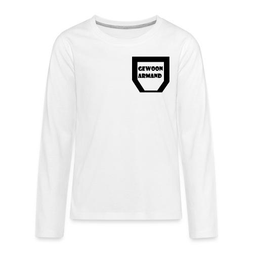 Gewoon Armand #TEAM - Teenager Premium shirt met lange mouwen