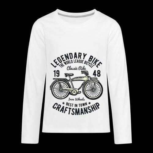 Legendary Bike - Radfahren oldschool - Teenager Premium Langarmshirt