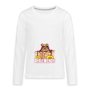 #FreeWendy - Teenagers' Premium Longsleeve Shirt