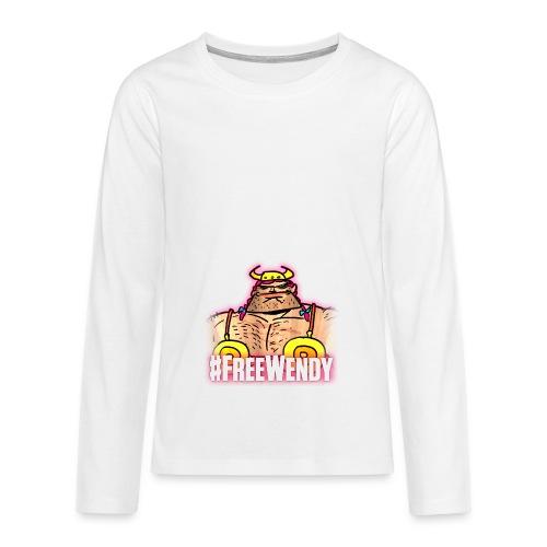 #FreeWendy - Teenagers' Premium Longsleeve Shirt