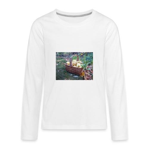 Quitten-Korb - Teenager Premium Langarmshirt