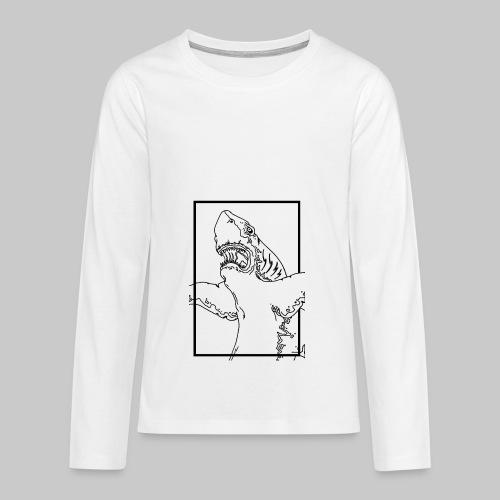SHARK BLACK line - T-shirt manches longues Premium Ado
