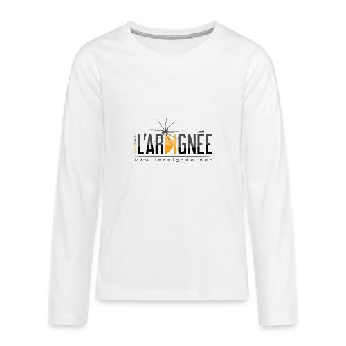 L'ARAIGNÉE, logo noir - T-shirt manches longues Premium Ado