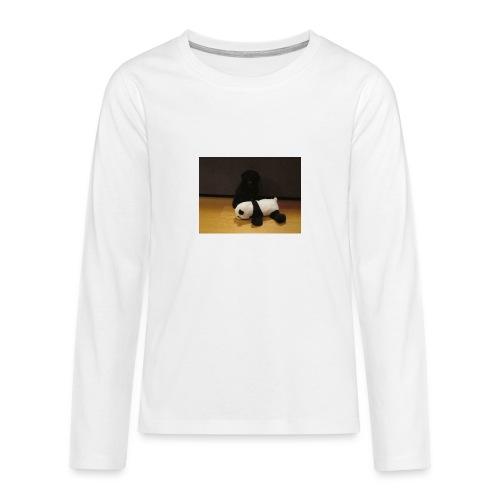 Maggie och pandan - Långärmad premium T-shirt tonåring