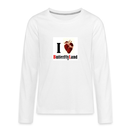 I love Butterflyland - T-shirt manches longues Premium Ado