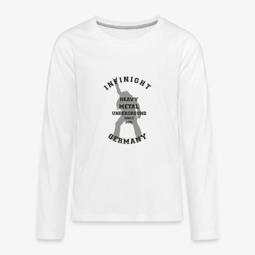 Infinight College headbanger dark - Teenager Premium Langarmshirt