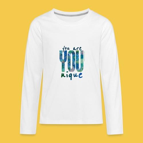 you are unique - Teenager Premium Langarmshirt