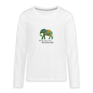Save The Last Elephants - Teenager Premium Langarmshirt