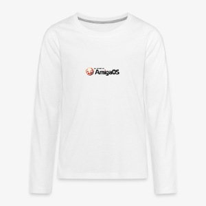 poweredByAmigaOS Schwarz - Teenagers' Premium Longsleeve Shirt