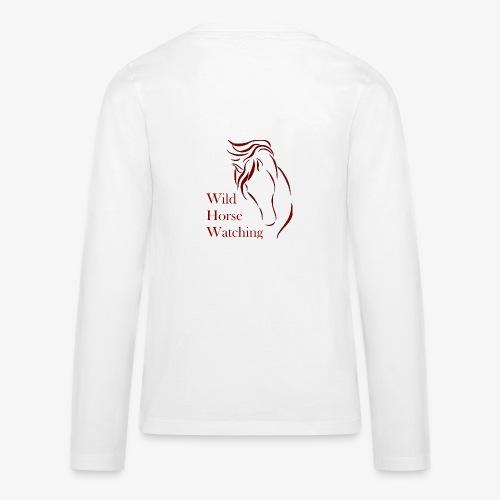 Logo Aveto Wild Horses - Maglietta Premium a manica lunga per teenager