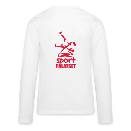 Motiv med röd logga - Långärmad premium-T-shirt tonåring