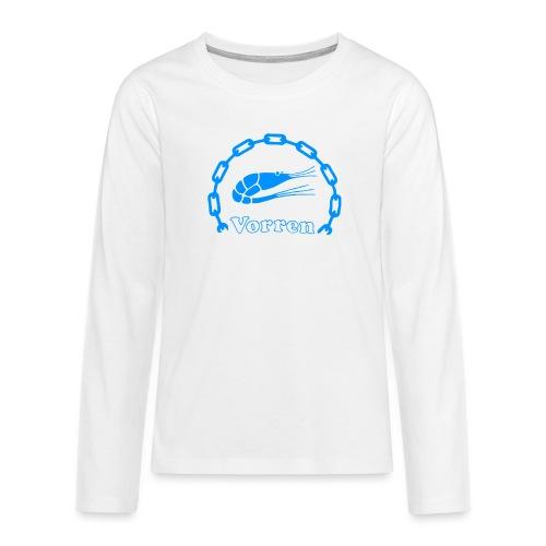 Vorren Logo CLASSIC [Blue] - Långärmad premium T-shirt tonåring