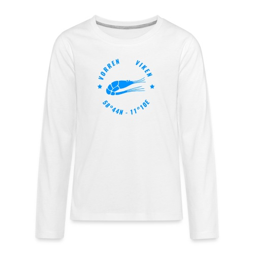 Vorren Logo MODERN [Blue] - Långärmad premium T-shirt tonåring