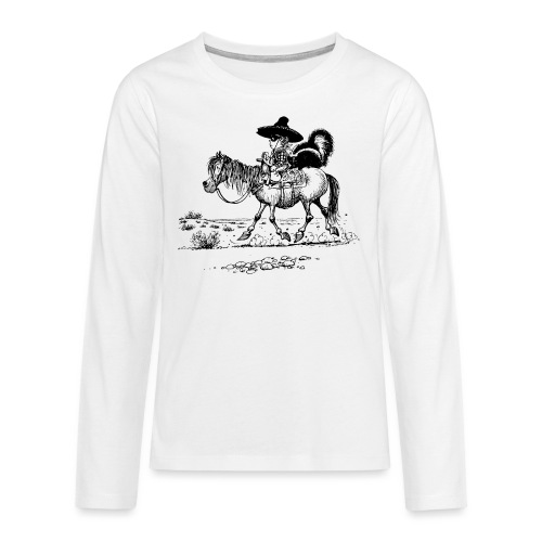 Thelwell 'Cowboy with a skunk' - Teenagers' Premium Longsleeve Shirt