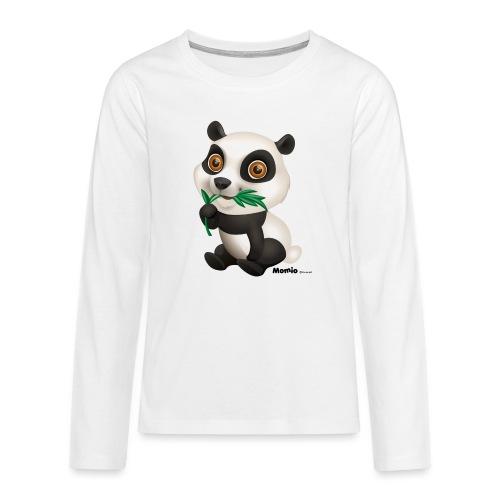 Panda - Premium langermet T-skjorte for tenåringer