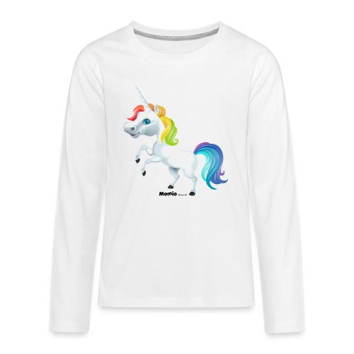Tęczowy jednorożec - Koszulka Premium z długim rękawem dla nastolatków