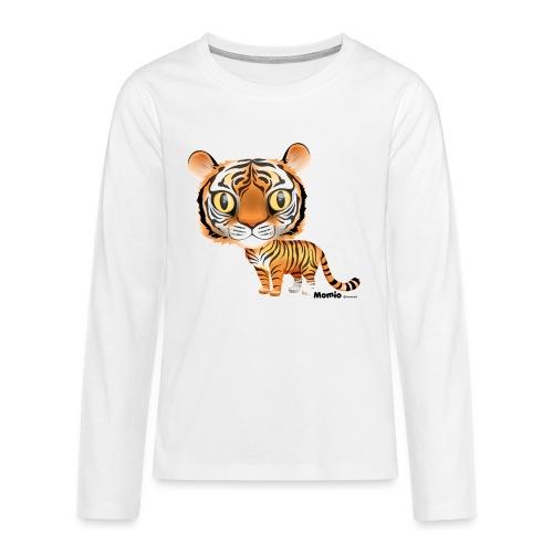 Tiger - Premium langermet T-skjorte for tenåringer