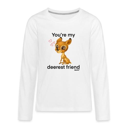 Deerest przyjaciel przez Diamondlight - Koszulka Premium z długim rękawem dla nastolatków