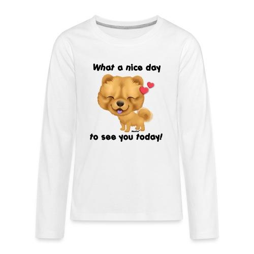 Miły dzień przez Niszczacy - Koszulka Premium z długim rękawem dla nastolatków