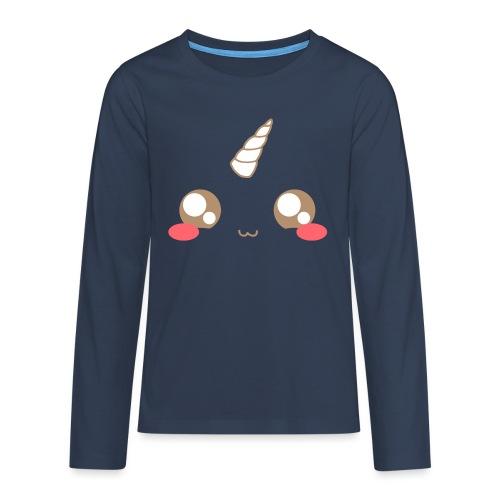 Kawaii_T-unicorn_EnChanta - Teenagers' Premium Longsleeve Shirt